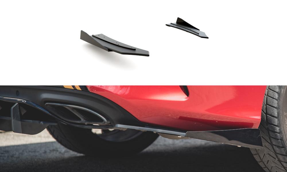 SPLITTERY TYLNE BOCZNE RACING DURABILITY + FLAPS MERCEDES-AMG C43 COUPE C205 - GRUBYGARAGE - Sklep Tuningowy